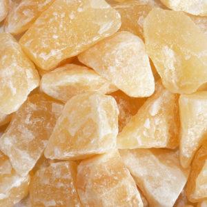 Orangencalcit Rohstein
