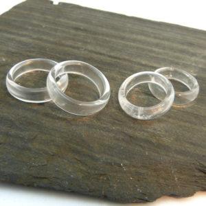Edelstein Ring Bergkristall