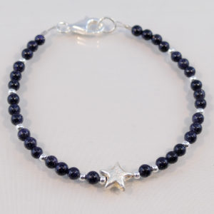 Edelsteinarmband Blaufluss