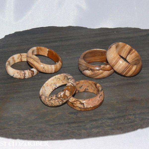 Edelstein Ring Landschaftsjaspis