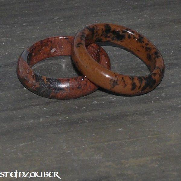Edelstein Ring Mahagoniobsidian
