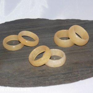 Edelstein Ring Orangencalzit