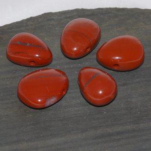 Roter Jaspis Trommelstein
