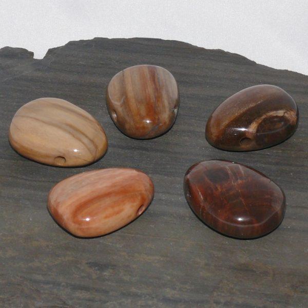 Versteinertes Holz Trommelstein