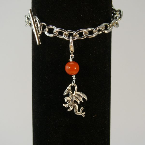 Charms Drache Roter Jaspis