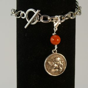 Charms Engel Amulett Roter Jaspis