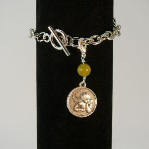 Charms Engel Amulett Serpentin