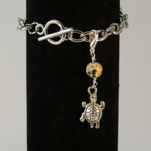 Charms Schildkröte Dalmatiner Jaspis