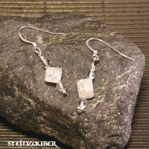Ohrhänger Alice mit Sterlingsilber und Bergkristall