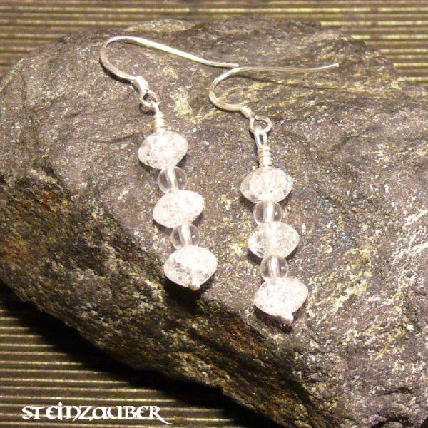 Ohrhänger Grace aus Bergkristall mit Sterlingsilber