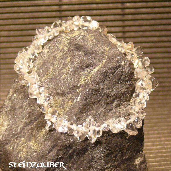 Splitterarmband aus Bergkristall
