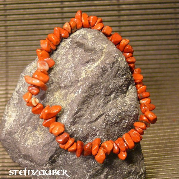 Splitterarmband aus rotem Jaspis