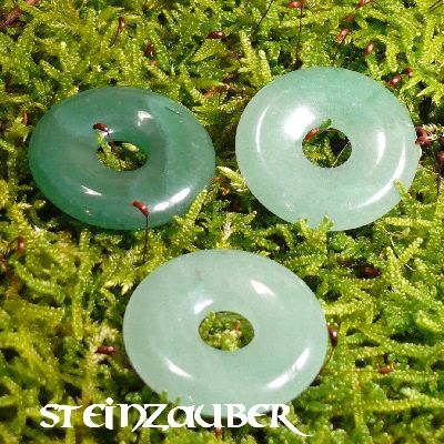 Donut aus Aventurin grün 30 mm