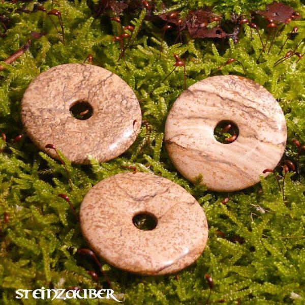 Donut aus Landschaftsjaspis 40 mm