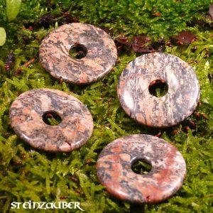 Donut aus Leopardenjaspis 40 mm