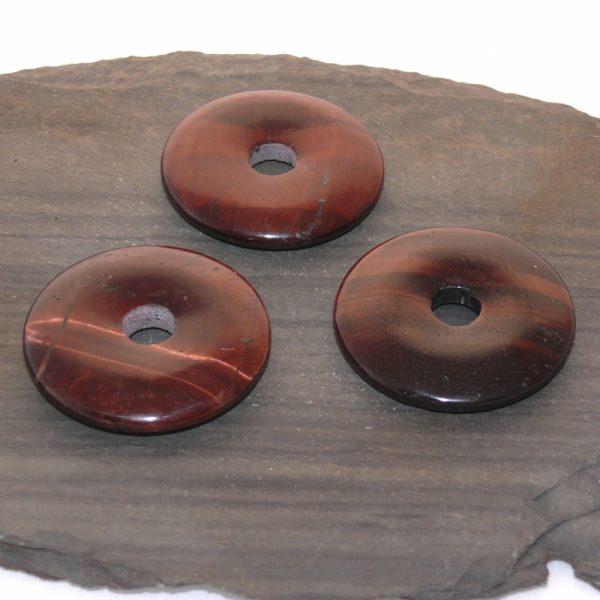 Donut aus Rotem Tigerauge 40 mm