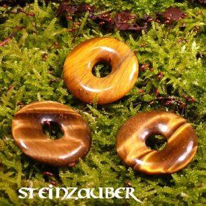 Donut aus Tigerauge 30 mm