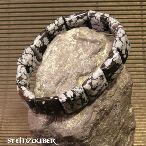 Armband Schneeflockenobsidian