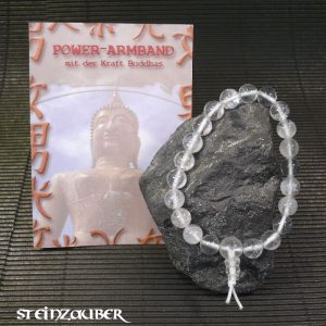 Buddha Armband Powerarmband Bergkristall