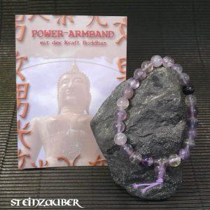 Buddha Power Armband Fluorit