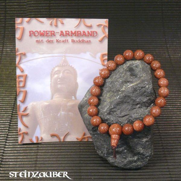 Buddha Power Armband Goldfluss