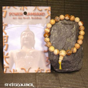 Buddha Power Armband Landschaftsjaspis