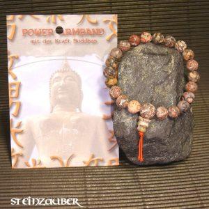 Buddha Power Armband Leopardenjaspis
