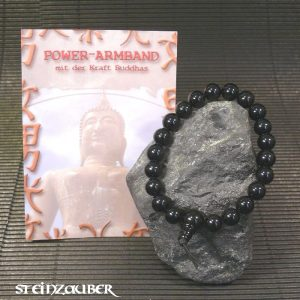 Buddha Power Armband Onyx