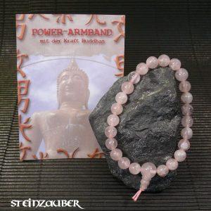 Buddha Power Armband Rosenquarz