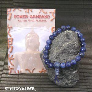 Buddha Power Armband Sodalith