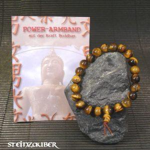 Buddha Power Armband Tigerauge