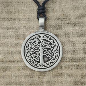 Amulett Baum des Lebens Zinn