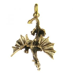 Bronze Amulett Drache Erddrache