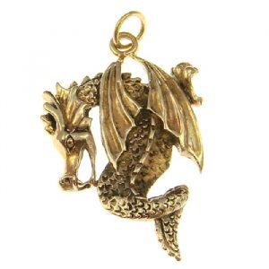 Bronze Amulett Drache Wasserdrache