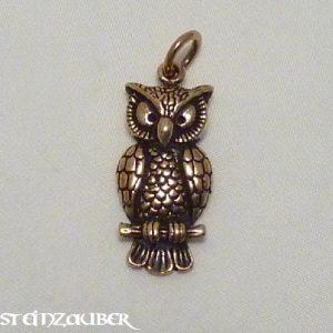 Bronze Amulett Eule