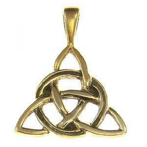 Amulett Keltischer Dreiecksknoten aus Bronze