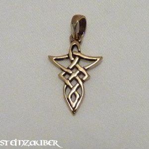 Amulett Keltischer Knoten aus Bronze