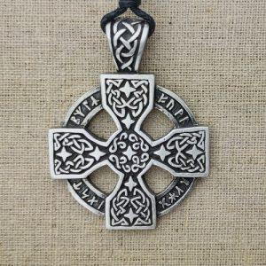 Amulett Keltisches Runenkreuz aus Zinn