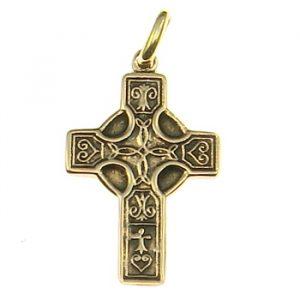 Amulett Kreuz aus Bronze