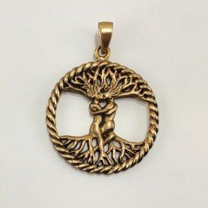 Amulett Baum des Lebens Mann und Frau aus Bronze