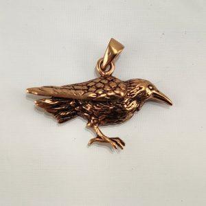 Bronze Amulett Rabe