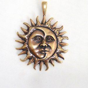 Bronze Amulett Eclipse Sonne Mond