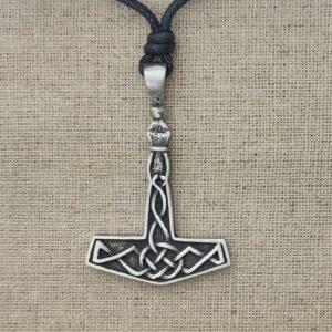 Amulett Thors Hammer Zinn