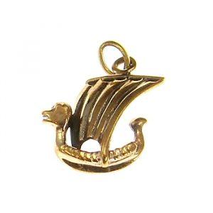 Wikinger Amulett Wikingerschiff aus Bronze Wikingerboot