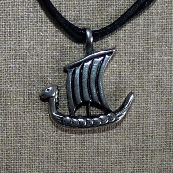 Amulett Wikinger Drachenboot Zinn