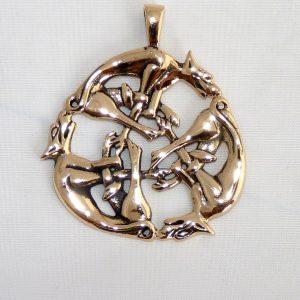 Amulett Wilde Jagt aus Bronze