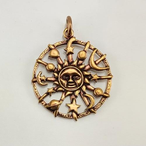 Bronze Amulett der Gestirne