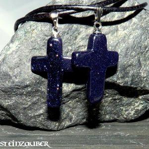 Kreuz aus Blaufluss