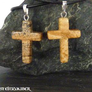 Kreuz aus Landschaftsjaspis