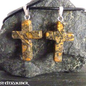 Kreuz aus Leopardenjaspis